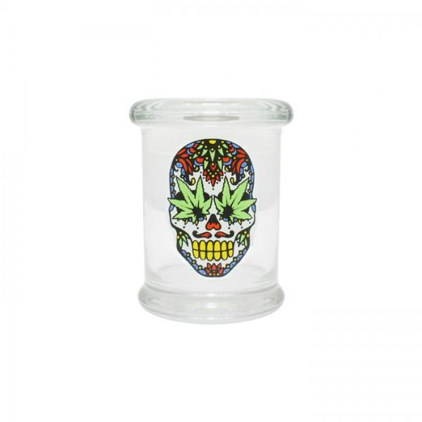 Pop Top Jar 2 Skull 200ml - mylegalize