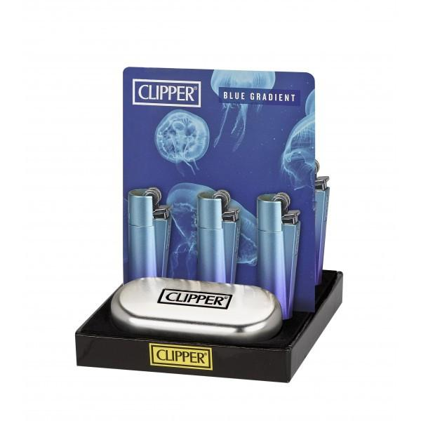 Mechero CLIPPER Metal Blue Gradient - mylegalize