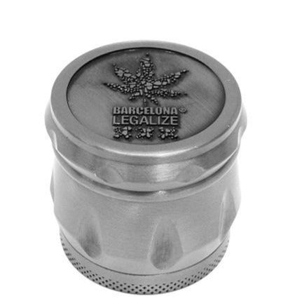 Grinder con BL logo en Relieve 4 Partes 43x40mm - mylegalize