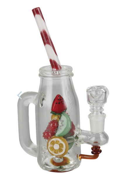 "Bong Empire Glassworks Mini Rig - 8.5"" / Watermelon Detox - mylegalize"