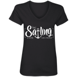 I Like Sailing and Maybe Like 3 People Women's V-Neck