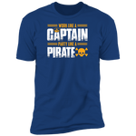 Work Like a Captain, Party Like a Pirate Men's T-Shirt