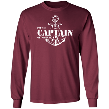 I'm the Captain, Get Over It Men's Long Sleeve