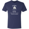 The Captain Goes Down With The Ship Premium Men's Tri-Blend T-Shirt