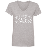 Take Me To The Beach Ladies' V-Neck