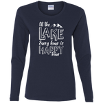 At The Lake Every Hour Is Happy Hour Women's Long Sleeve