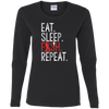 Eat, Sleep, Fish, Repeat Women's Long Sleeve