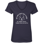 My First Mate Has 4 Paws Women's V-Neck