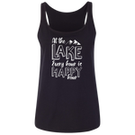 At The Lake Every Hour Is Happy Hour Women's Tank Top
