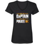 Work Like a Captain, Party Like a Pirate Women's V-Neck