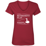Fishing Retirement Plan Women's V-Neck