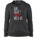 Eat, Sleep, Fish, Repeat Women's Hoodie
