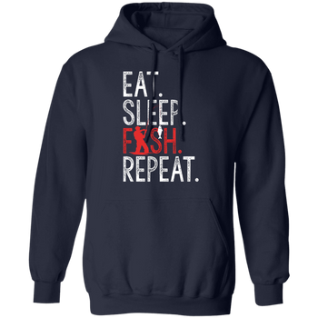 Eat, Sleep, Fish, Repeat Men's Hoodie