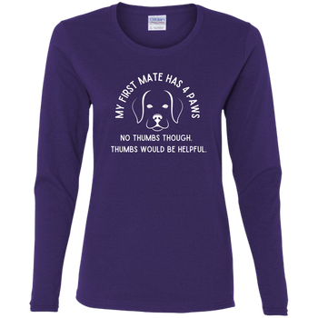 My First Mate Has 4 Paws Women's Long Sleeve