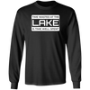 Time Wasted At The Lake Men's Long Sleeve