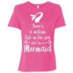 There's a Million Fish in the Sea, But I'm a Mermaid Women's T-Shirt