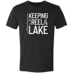 Keeping It Reel At The Lake Premium Men's Tri-Blend T-Shirt