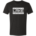 Time Wasted At The Lake Premium Men's Tri-Blend T-Shirt