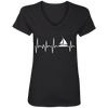 Sailing Heartbeat Ladies' V-Neck
