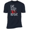 Eat, Sleep, Fish, Repeat Men's T-Shirt
