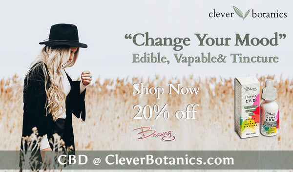 Bhang Products @CleverBotanics CBD Tincture