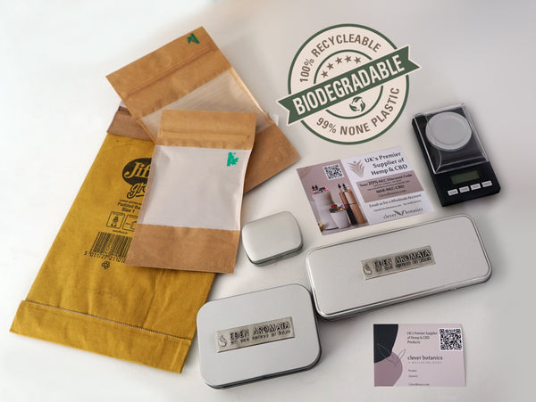 BioDegradable Packaging on all product shipping @cleverbotanics
