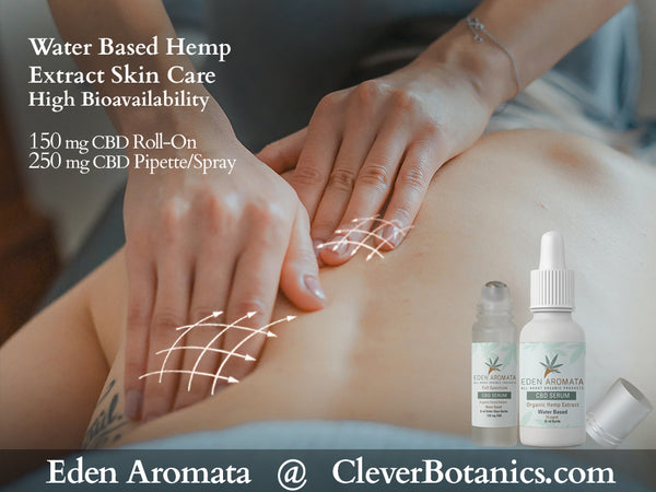 Hemp Extract CBD Roll-on & Spray/Pipette Serum from £20 after discount