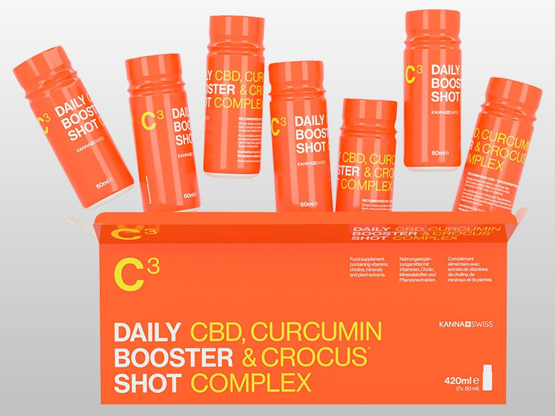 C3 - C3 Daily booster shot Curcumin, Crocus, and CBD Complex