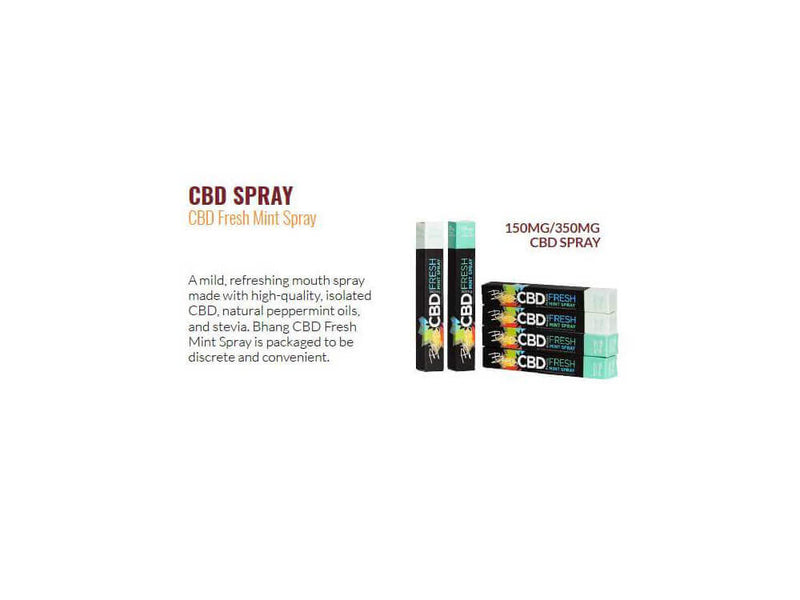 350 mg CBD Fresh Mint Spray by Bhang
