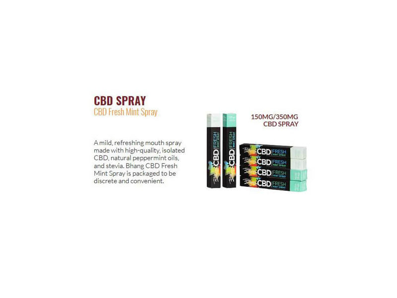 150 mg CBD Fresh Mint Spray by Bhang