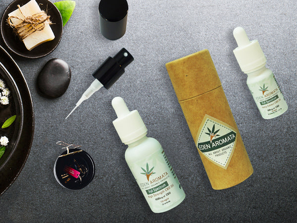 EdenAromata Full Spectrum Organic CBD Oil - 5% & 15% in 10ml and 30ml bottles
