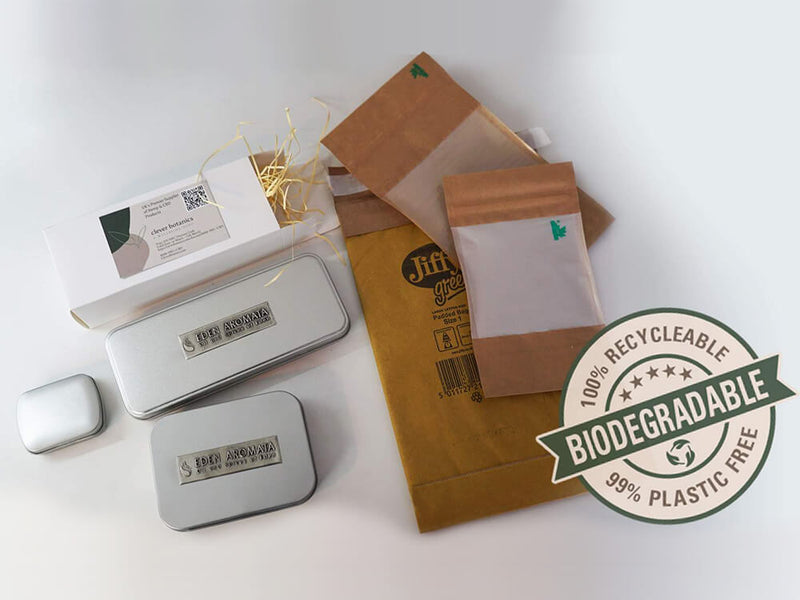 Biodegradable packing for CBD Hemp Flowers UK