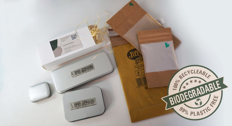 Biodegradable packaging for CBD Hemp Flowers UK
