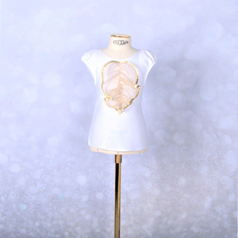 White Gold Cockatoo Blouse
