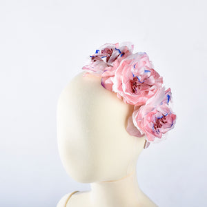 Powder Pink Rose Headband