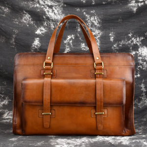 Large Capacity Genuine Leather Travel Bag