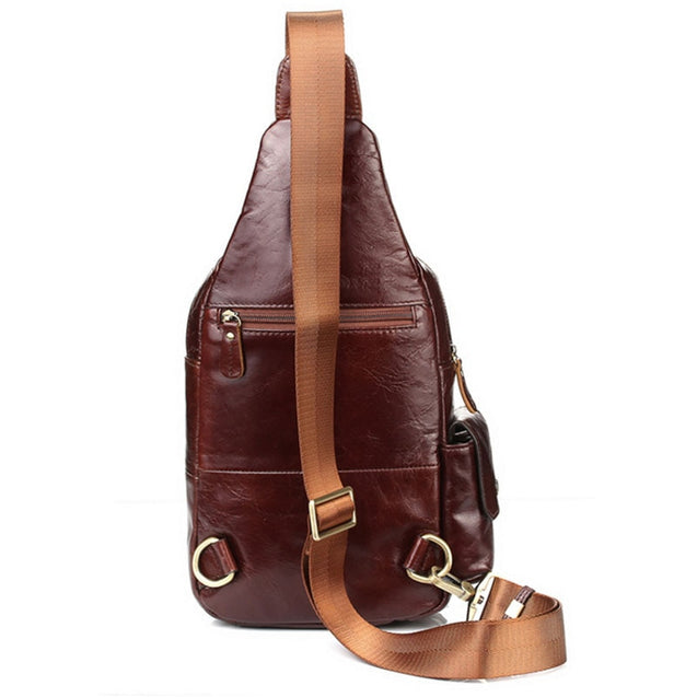 Leather Chest Pack Cross Body Bag