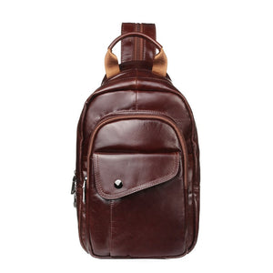 Leather Waterproof Chest Bag Backpack