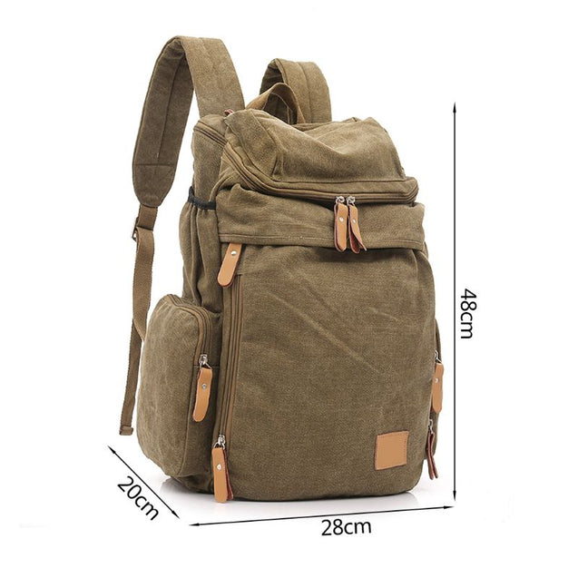 Outdoor Travel Vintage Canvas Backpack