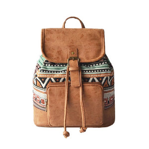 Bohemian Canvas Small Backpack