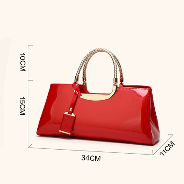 PU Patent Leather Handbag(Free Shipping)