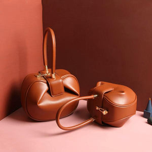 100% Genuine Leather Dumplings Wonton Bags