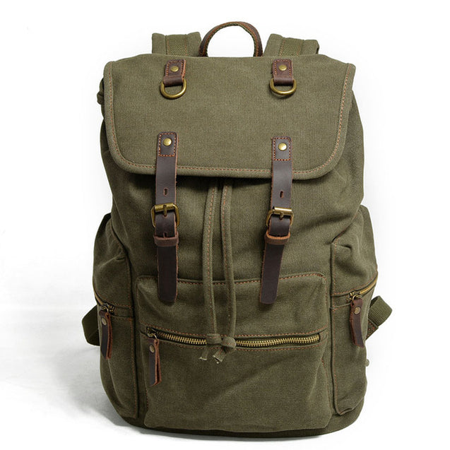Large Vintage Casual  Canvas  Backpack