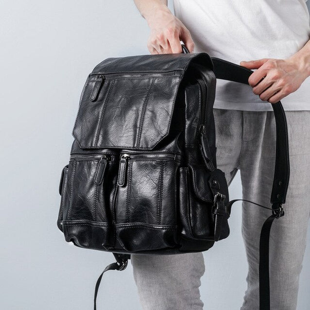 Oil Wax Retro Backpack