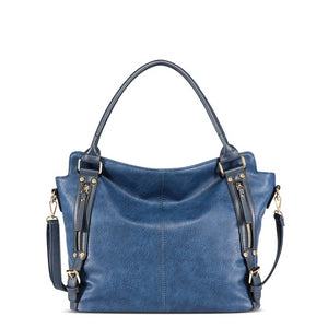 Vintage PU Leather Big Women Handbag