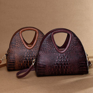 Retro Alligator Leather Women Handbag