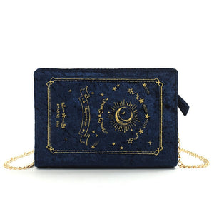 Velvet Embroidered Starry Sky Crossbody Bag