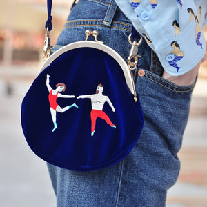 Original Designed Vintage Velvet Embroidery Women Messenger Bags(free shipping)