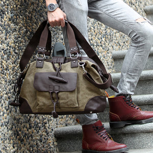 2019 New Fashion Design Washed Men's Canvas Bag(shipping fee counts by weight)
