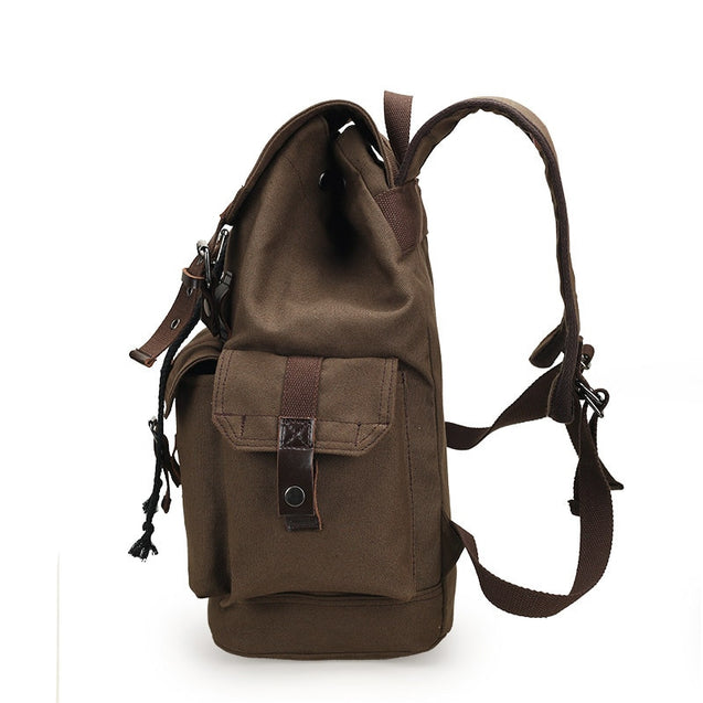 Canvas Drawstring Travel Backpack